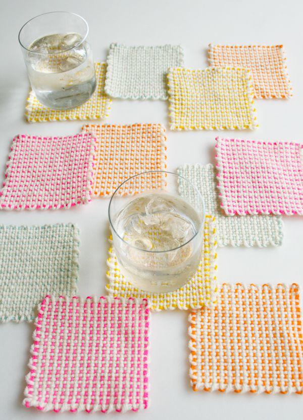 Whits Knits: Pin Loom Coasters