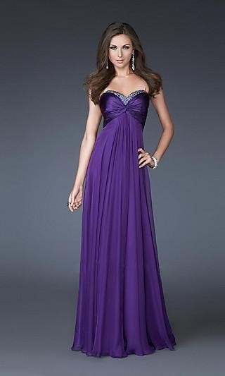 Sheath Chiffon Sweetheart Long Dress Charm86049