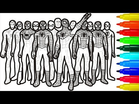 Spiderman Gang Of Brooklyn Coloring Pages Youtube Spiderman Coloring Pages Color