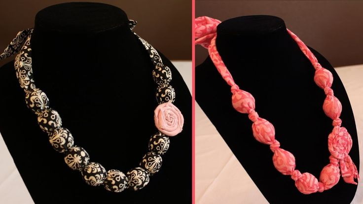 DIY Fabric Bauble Necklace | Fabric Knot Necklace {Tutorial} by HaftaCrafta