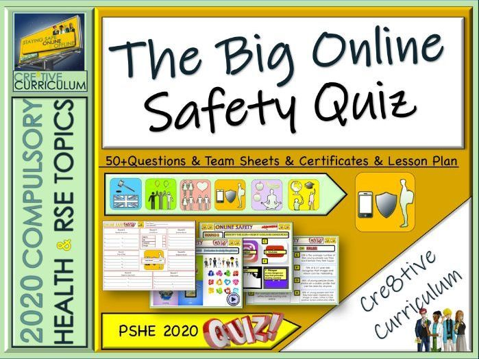 End Of Year Online Safety Quiz Online Safety Online Learning Tools Online Education
