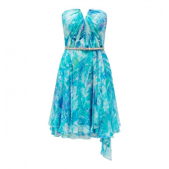 Tara silk printed dress
