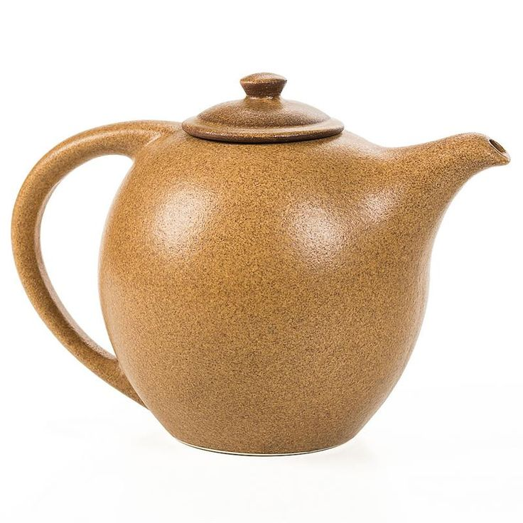 Gorgeous, traditional teapot is perfect for display or use. Handmade by a Virginia pottery.  At Lehmans.com.