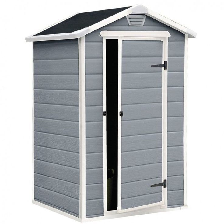 Garden House Shed Storage Outdoor Patio Furniture Modern Style Cabinet Grey Lock #GardenHouseShed