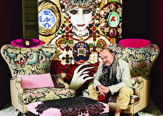 Christian Lacroix Furniture Collection for Sici So glad Christian discovered interior fabrics.. what a great talent. He designs for Designer Guild as well.