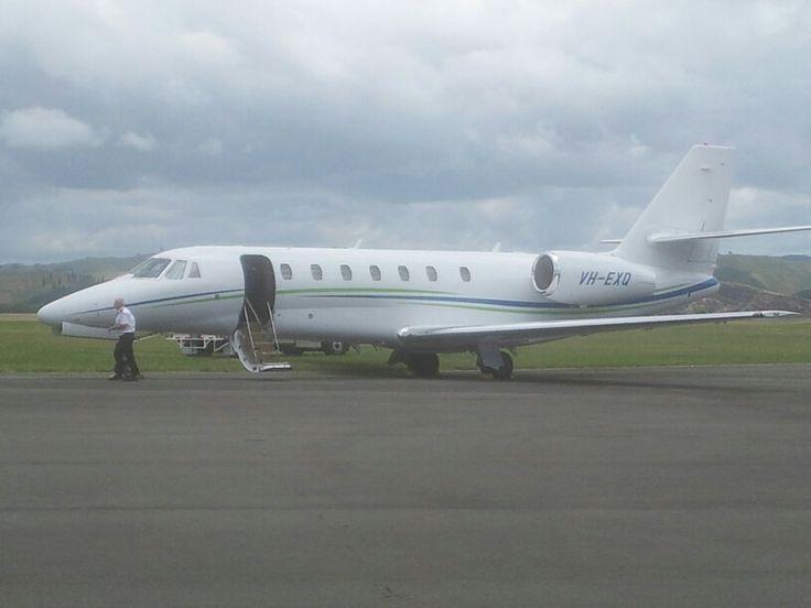 VH-EXQ Cessna 680 Citation at NZNR