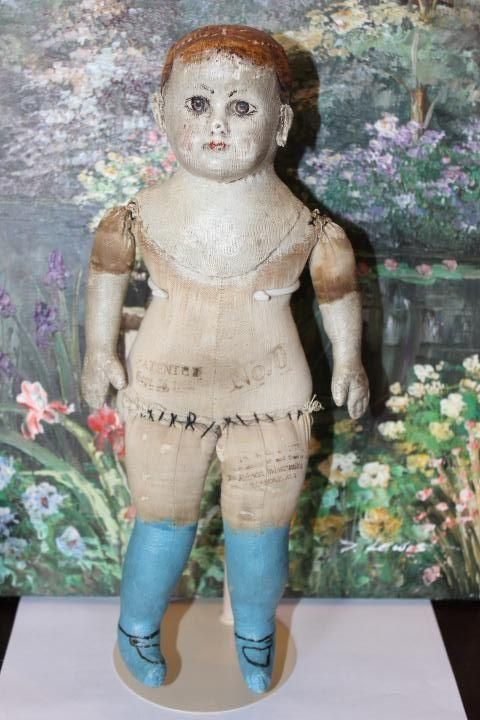 Early Pale Painted Alabama Indestructible Baby Doll, Ella Smith, from terifoleysantiquedolls on Ruby Lane