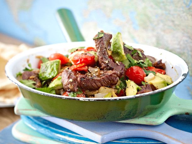 Steak-Pfanne mit Avocado Rezept