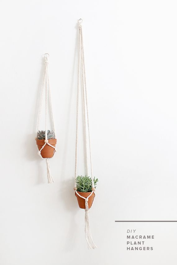 diy macrame plant hangers. Uses beads instead of knots! So much easier! www.almostmakesperfect.com/2014/06/24/diy-macrame-plant-hangers/