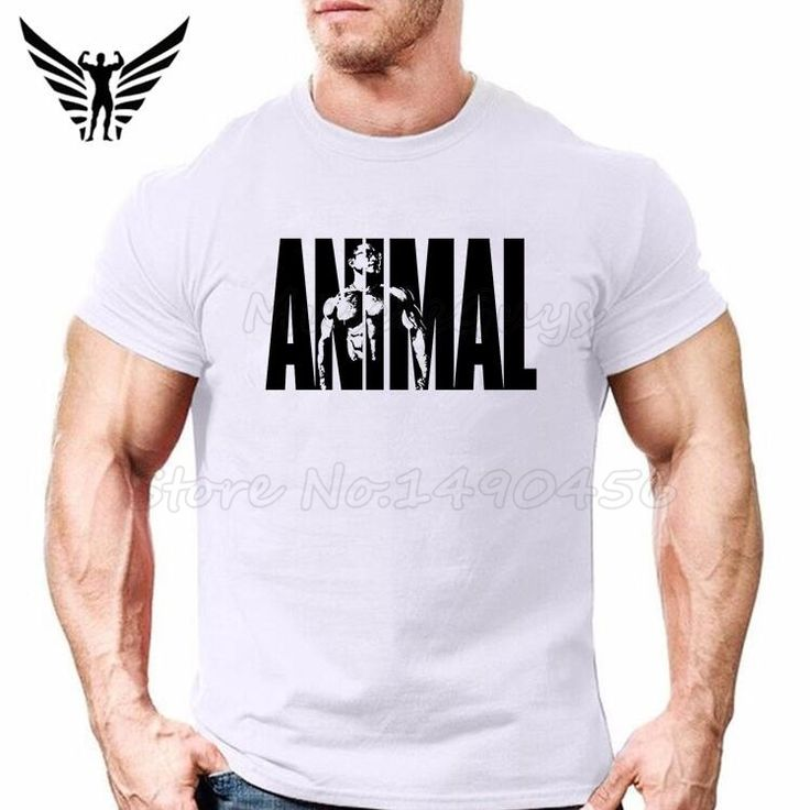 Muscle Guys Brand Fitness Animal print Bodybuilding T Shirt Mens Workout Sportwear Powerhouse golds Gyms Tops cotton clothing #Affiliate
