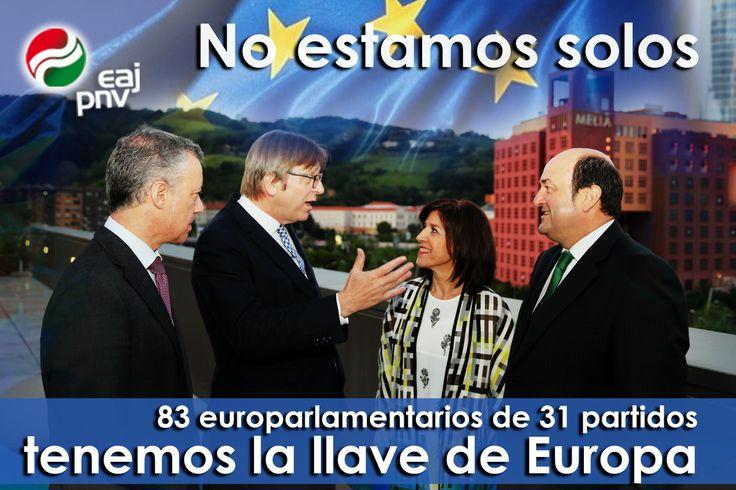 """Izaskun Bilbao: """"No estamos solos: 83 parlamentarios de 31 partidos tenemos la llave de Europa""""."""