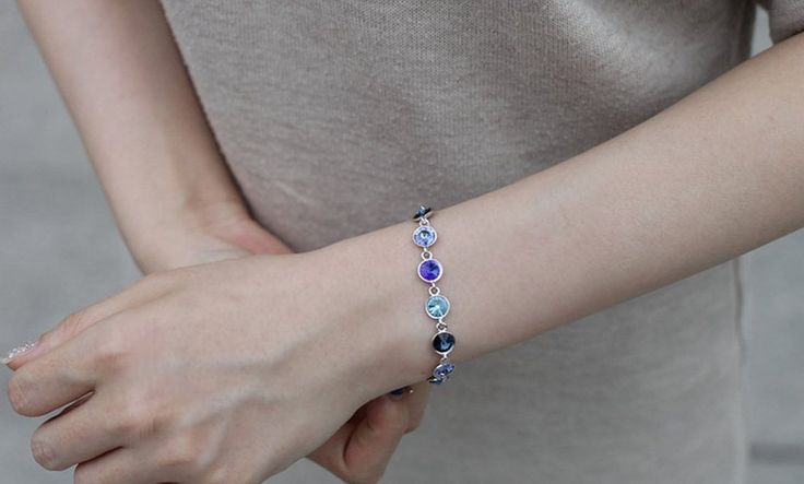 Amazon.com: dearWYW Genuine Swarovski Elements Crystal Bracelets SW594: Jewelry