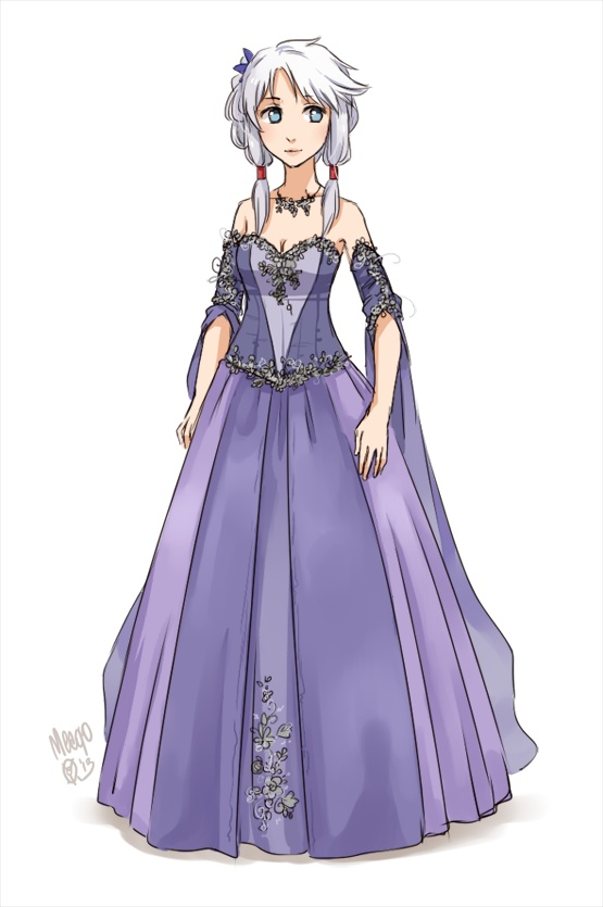 anime girl in pretty gown | Outfit Design | Pinterest ...