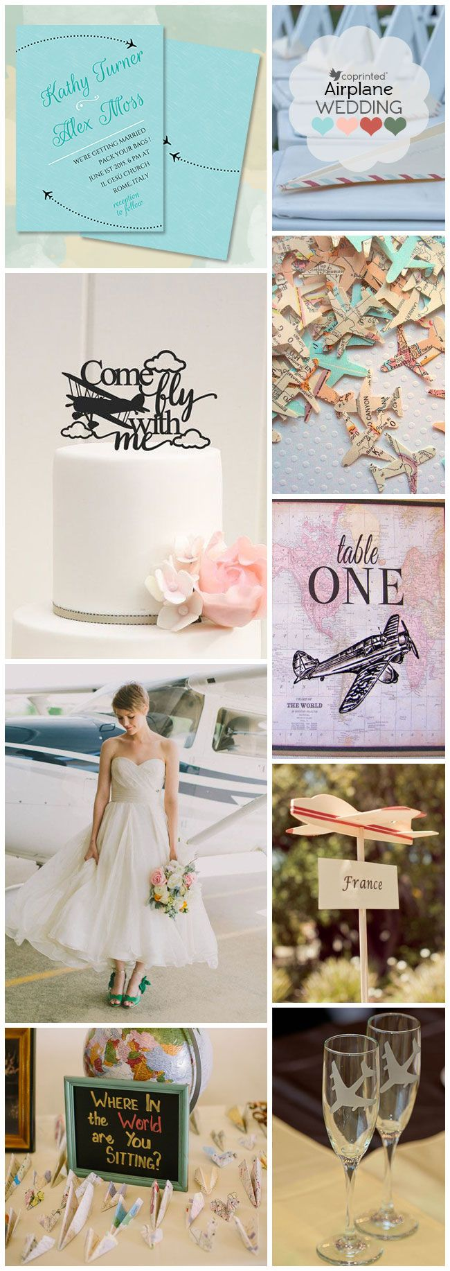 Wedding-With-Airplane-Theme