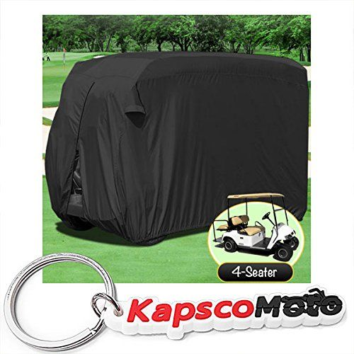 Golf Balls Ideas | Waterproof Superior Black Golf Cart Cover Covers Club Car EZGO Yamaha Fits Most FourPerson Golf Carts  KapscoMoto Keychain -- Be sure to check out this awesome product. Note:It is Affiliate Link to Amazon.