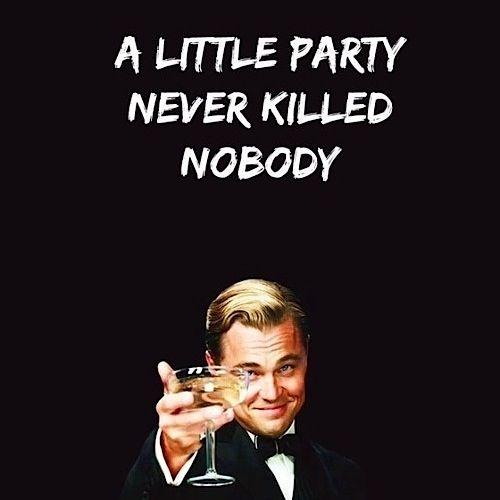 Cheers to that, Leo! #GreatGatsby #LeonardoDicaprio