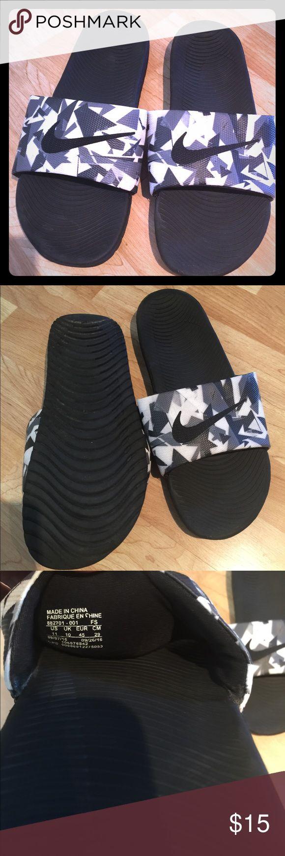 Nike slides men's 11 Nike slides men's 11. In excellent condition. Bundle and save. Nike Shoes Sandals & Flip-Flops