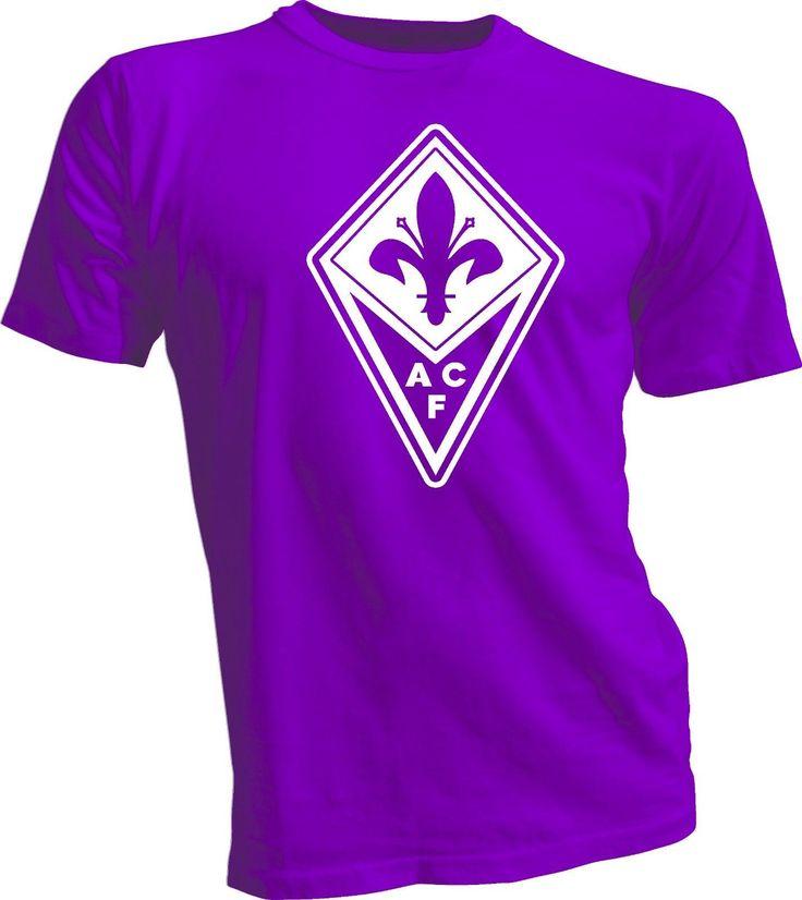 ACF Fiorentina Italy Calcio Football Soccer T Shirt Maglietta UEFA Europe Purpl…