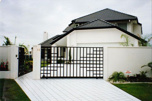 46 best gate design images on pinterest for Minimalist house gate
