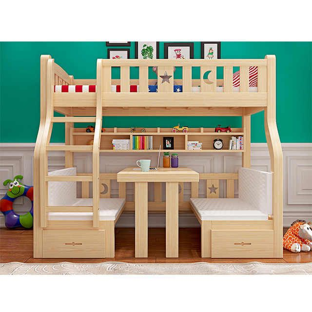 Source Sales Promotion New Design Kids Solid Wood Children Bunk Bed On M Alibaba Com Wood Bed Design Double Deck Bed Design Double Bed Designs