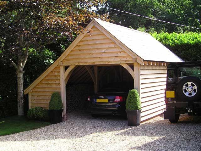 Oakcraft traditional oak framed garages and buildings for Garage built ins