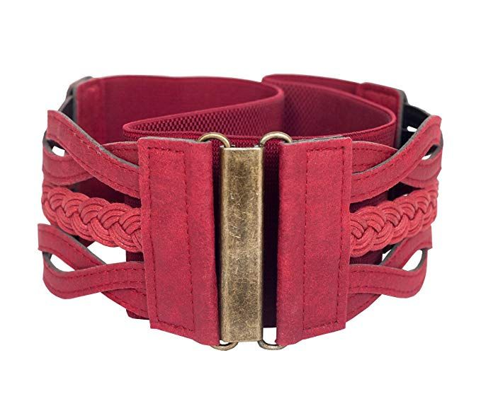 10810c70a3780 eVogues Braided Elastic Stretchy Retro Wide Waist Cinch Belt at Amazon  Women's Clothing store:
