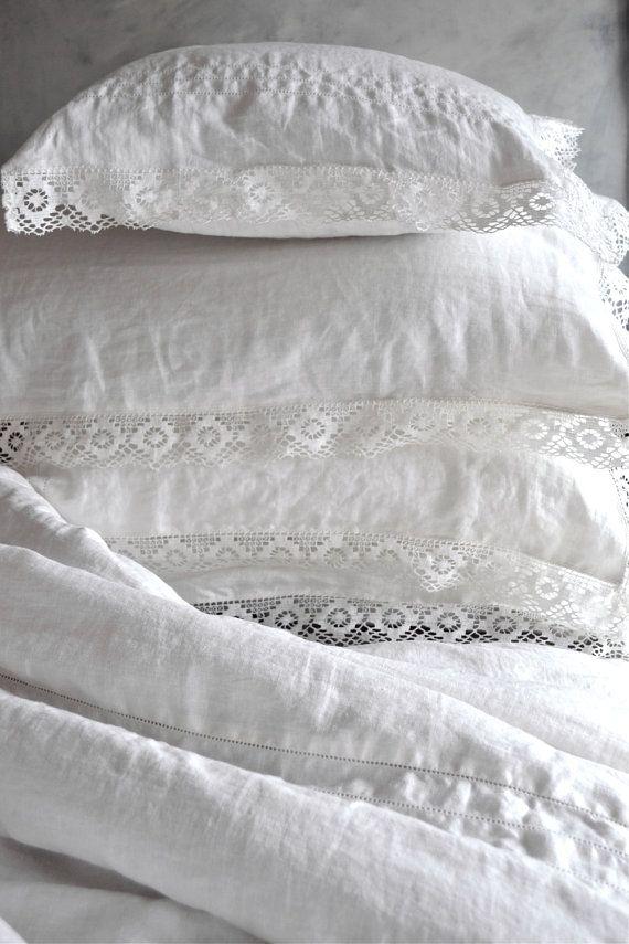 Provincial Living. Pure linen pillowcase by HouseOfBalticLinen