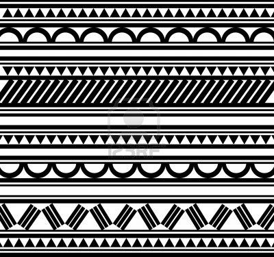 Maori Polynesische stijl tattoo armband Stockfoto