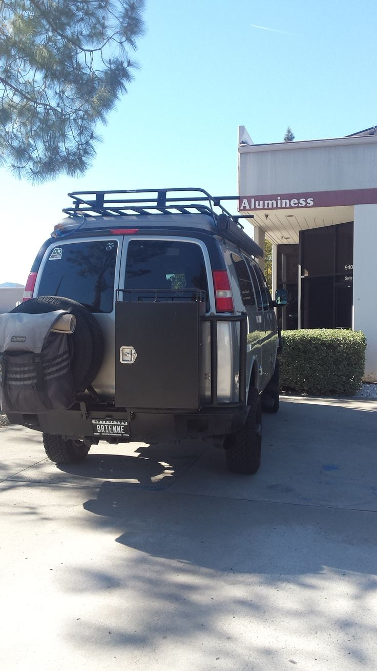 GMC Sportsmobile With Aluminess Rear Bumper And Swing Arms For Tire And  Storage Box