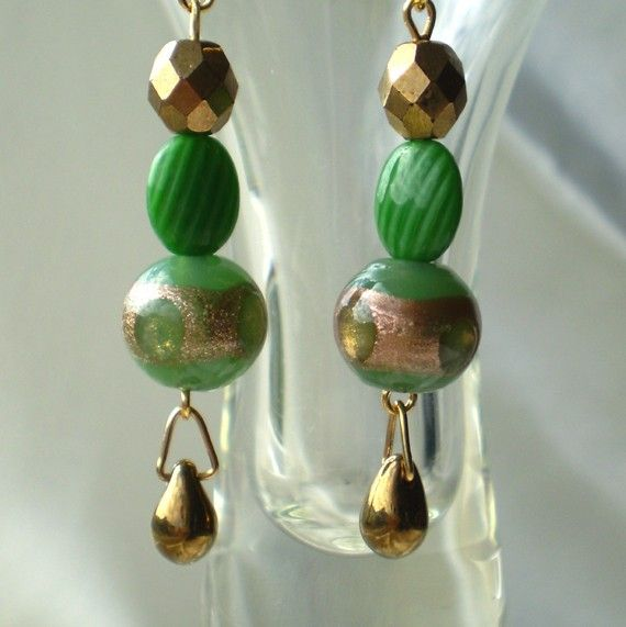 Bronze copper green antique by EachBeadCounts on Etsy
