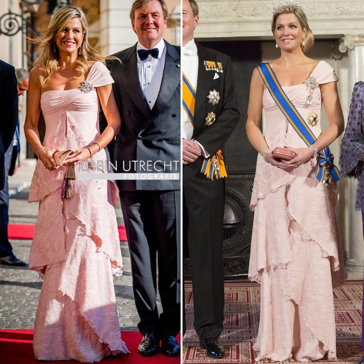 """HM Queen Maxima Of The on Instagram: """"• Same dress for Her Majesty Queen Maxima of the Netherlands . Right : Queen Maxima During The Chinese State Visit on 2014. . Left :…"""""""