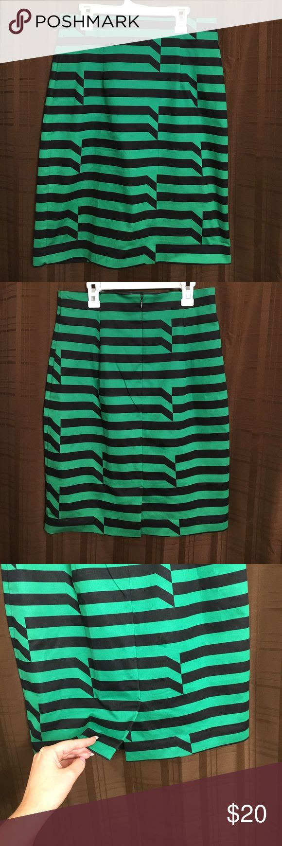 Black & Green Pencil Skirt Stretchy sexy pencil skirt - never worn! In perfect condition! Worthington Skirts Pencil