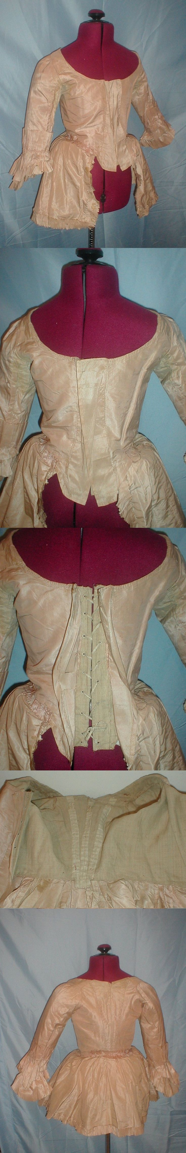 White pinafore apron ebay - Find Best Value And Selection For Your Antique Century Caraco Bodice Pink Silk Museum De Accessioned Search On Ebay World S Leading Marketplace