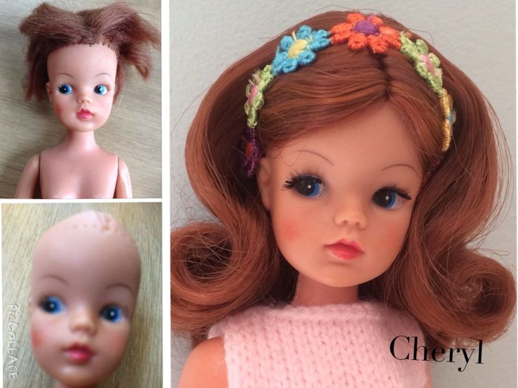 Before and after rerooted Sindy trendy girl