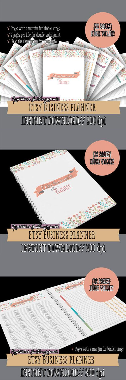 Etsy Business Planner Printables - Work At Home Planner - Online Business Printables - Household Binder - 32 sheets - Value Pack #affiliate