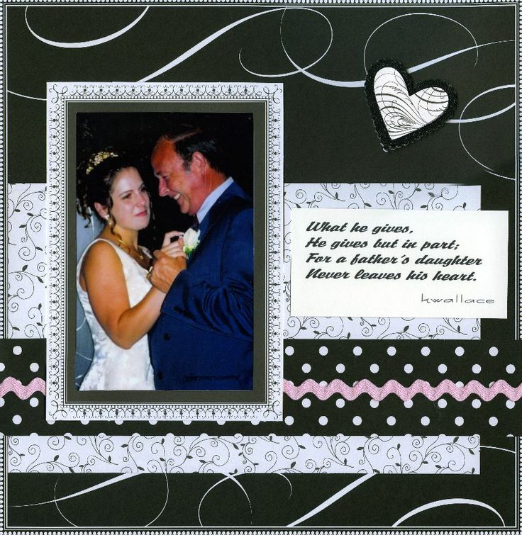 Father Daughter Scrapbook Layouts Wedding Dance The Chatterbug Fall 2007 Christmas Gift Ideas