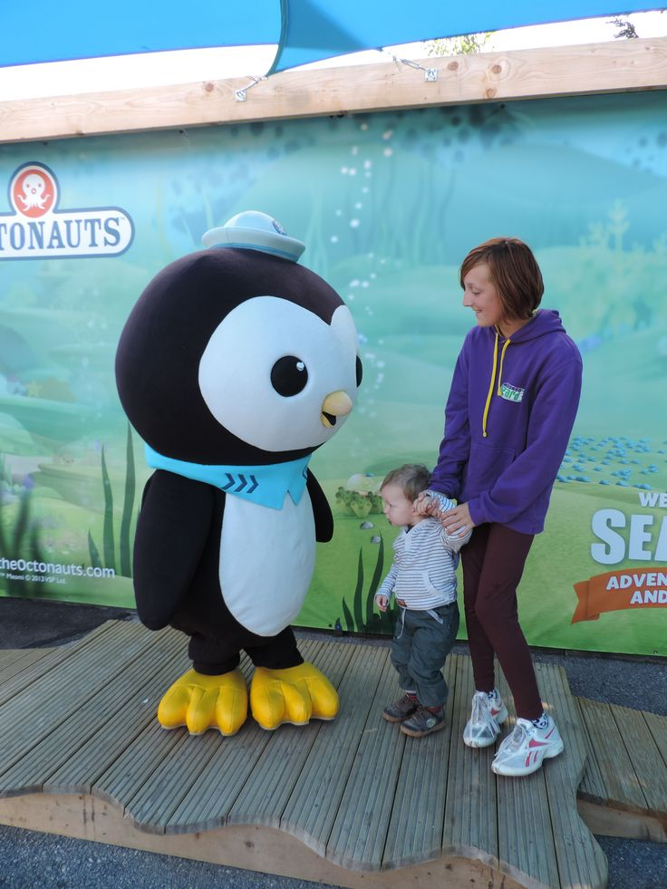 Me, my brother and an octonaut at Sealife, Weymouth