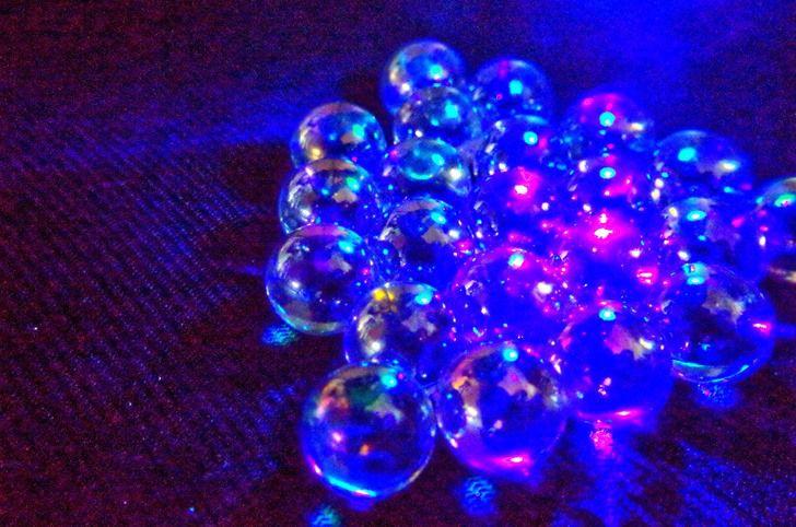 Purple Marble in Black Space