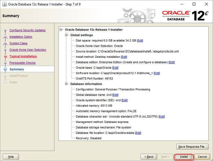 How to install Oracle Database 12C on Windows