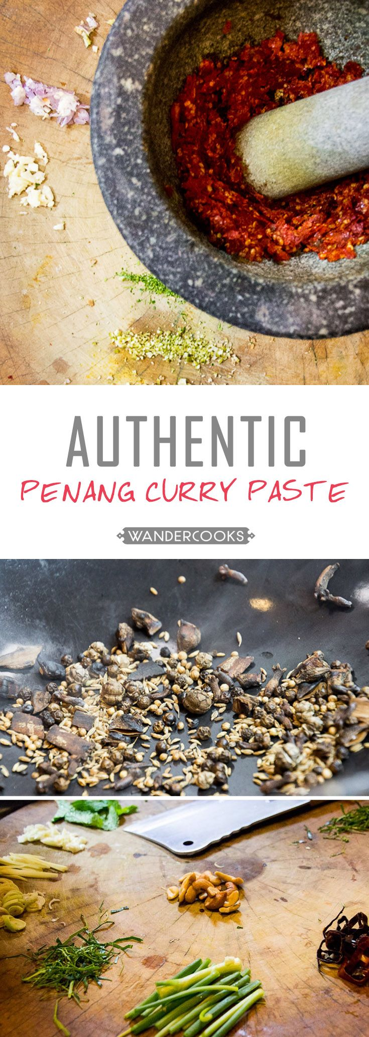 Throw away the store-bought curry pastes and whip a batch of your very own Authentic Panang Curry Paste that you can freeze for months. | wandercooks.com