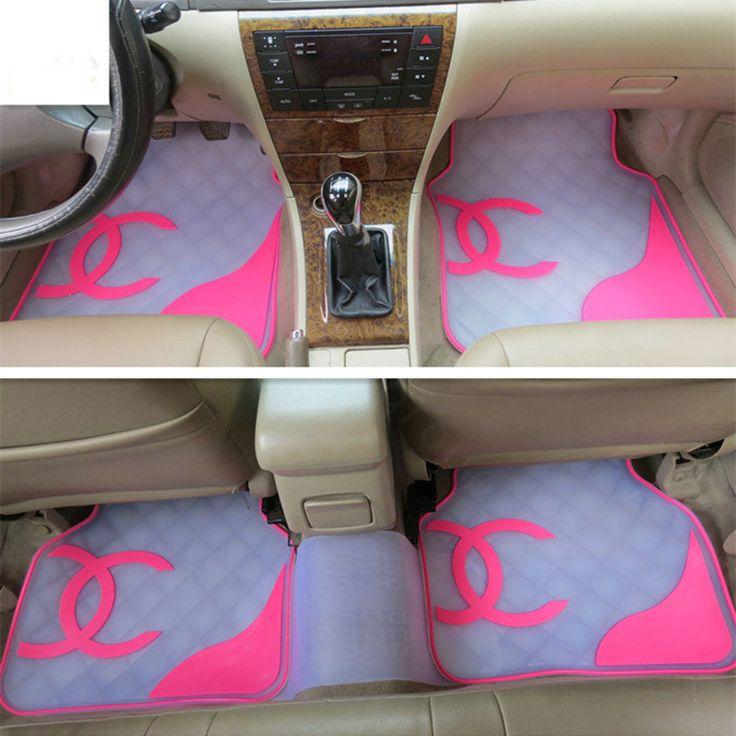 Buy Wholesale Classic Chanel Universal Automotive Carpet Car Floor Mats Rubber 5pcs Sets - White+Balck from Chinese Wholesaler - hi-bay.cn