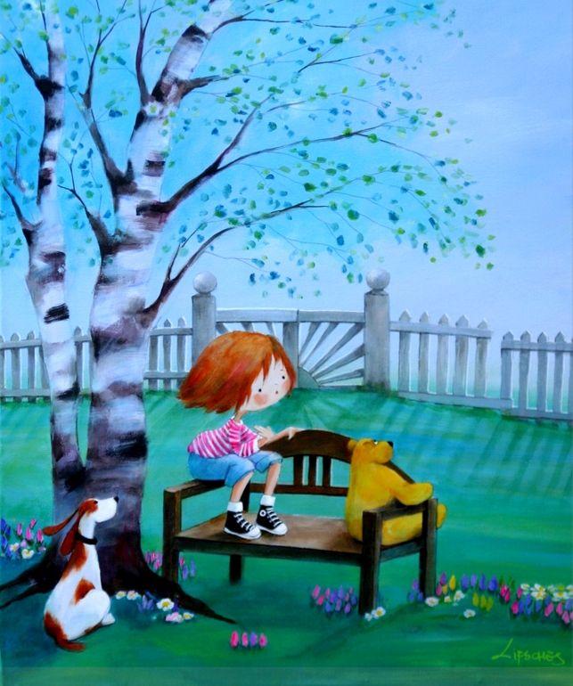 "Saatchi Art Artist: Iwona Lifsches; Acrylic 2013 Painting """"Teddy's Issue"""""