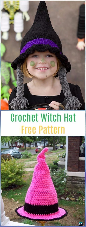 Crochet Witch Hat Free Pattern - Crochet Halloween Hat Free Patterns