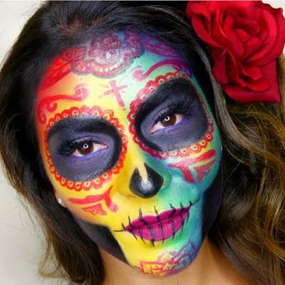 ‪#‎HalloweenMakeupIdeas‬: Preen.Me makeup artist lishalovesmakeup calls for your girlie screams with her floral rainbow sugarskull look. Get the lowdown from her video tutorial here.