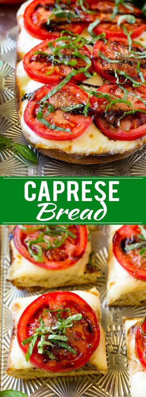 Caprese Bread Recipe | Tomato Bread | Cheese Bread
