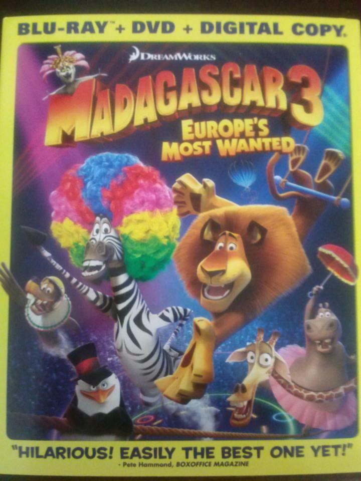 Madagascar 3: Europe Most Wanted (Blu-ray + DVD + Digital Copy) Sorteo