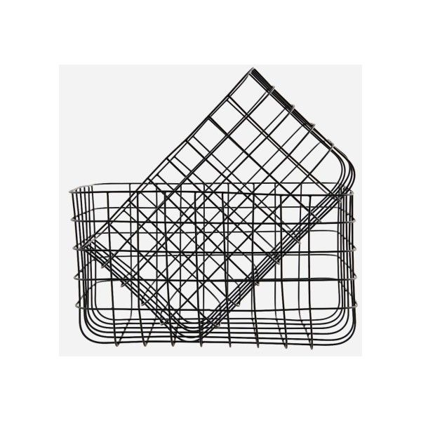 A Stylish Black Wire Basket By Danish Brand House Doctor Contemporary Storage Solution For Your Home