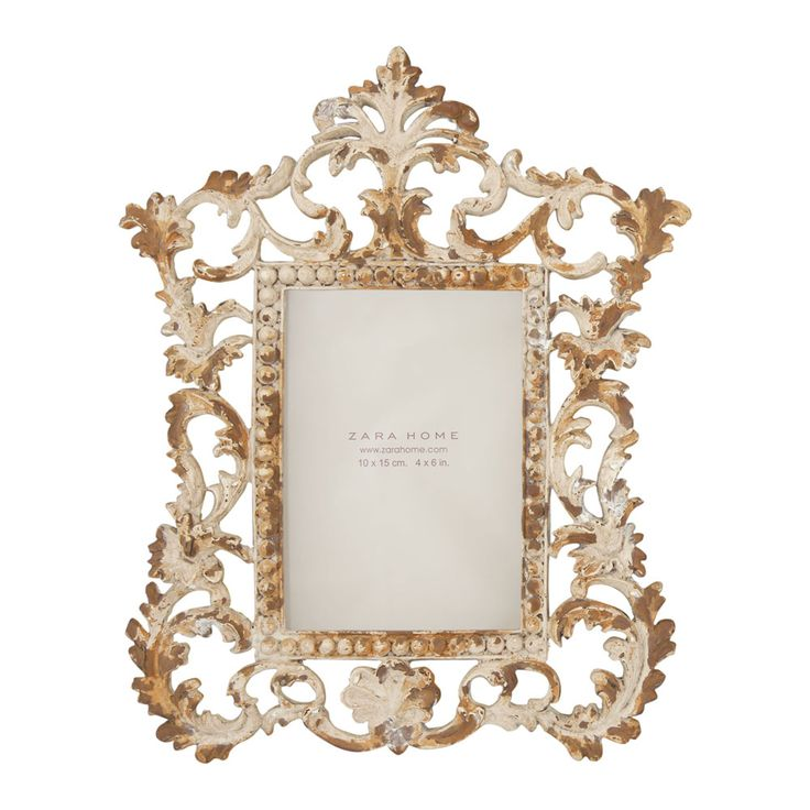 Moldura metal envelhecido zara home portugal frames for Mirror zara home
