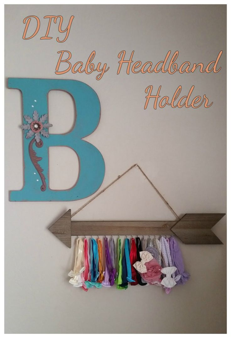 Easy DIY Baby Headband Holder that takes less than 10 minutes.