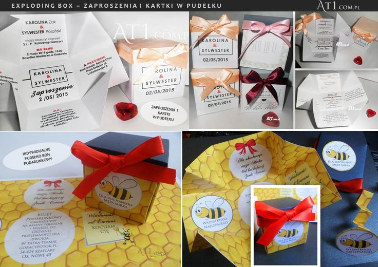 pudełko exploding box -zaproszenie kartka bon prezent www.At1.com.pl: